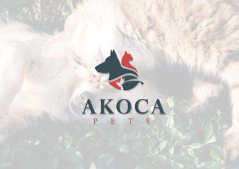 Logo fait pour AKOKA pets par notre agence de design graphique